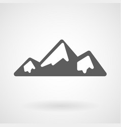 mountains line icon on white background vector image