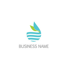 Nature ecology water leaf logo vector