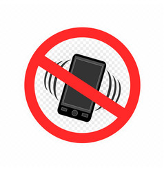 No gadget smartphone sign icon vector