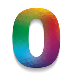 number 0 sign design template element vector image