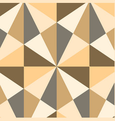 Obtuse triangle shape in brown gray and white vector