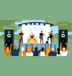 open air music festival horizontal vector image