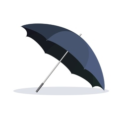 Opened umbrella isolated on white background vector