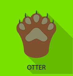 Otter and paw symbol vector
