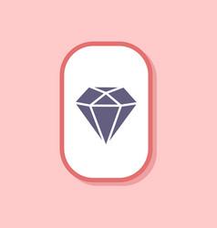 Paper sticker on stylish background diamond symbol vector