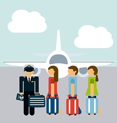 pilot job vector image