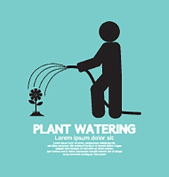 Plant Watering With Rubber Hose Tube vector