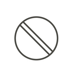 prohibited icon line no symbol isolated t vector image