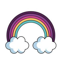 rainbow sky isolated vector image