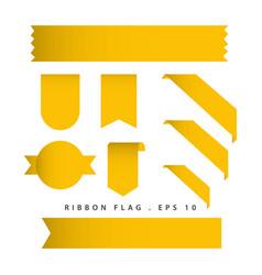 ribbon flag template design vector image