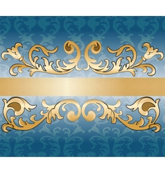 Royal imperial classic ornament damask invitation vector image