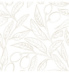 Seamless olive pattern vector