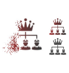 shredded pixel halftone monarchy structure icon vector image