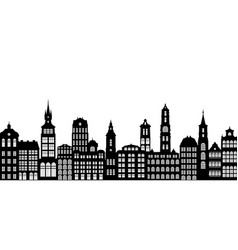 silhouettes houses vector image