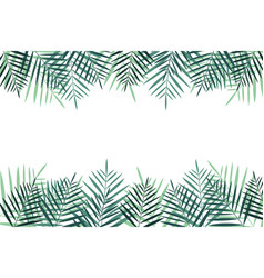 Summer vacation background with palm trees vector