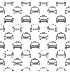 Taxi service minimal pattern - car seamless vector