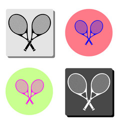 tennis flat icon vector image