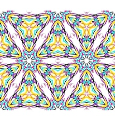 Thin Kaleidoscopic Triangle Pattern vector image