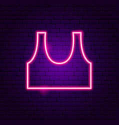 top t-shirt neon sign vector image