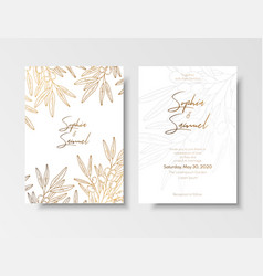wedding vintage invitation save date card vector image