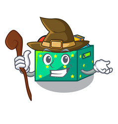 witch kids toys in the cartoon box vector image
