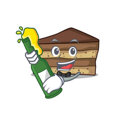 with beer tiramisu mascot cartoon style vector image