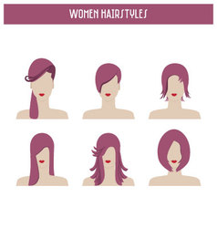 women hairstyles vector image