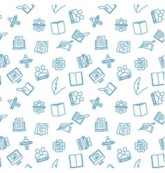 Writer creative seamless pattern vector