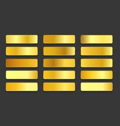 Yellow gold gradients metallic gradients set vector