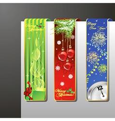 a set of christmas banners vector image