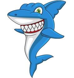 Angry Shark cartoon vector image vector image
