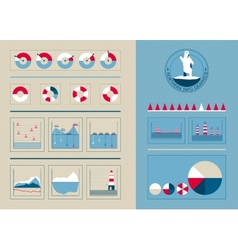 Infographics in the northern style vector image vector image