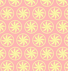 Light Yellow Curve Flower Pattern on Pastel vector image vector image