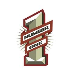 number one leader winner symbol logo vector image