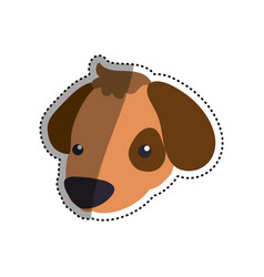 puppy cartoon drawing head vector image vector image