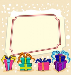 surprise gift with frame vector image vector image