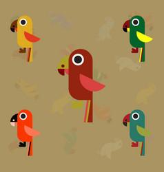 baby parrots set vector image vector image