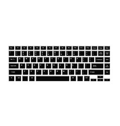 black keyboard for laptop or computer on white vector image vector image