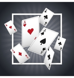 Casino and Cards of Poker design vector image