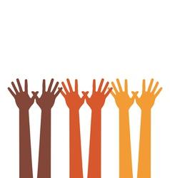 happy hands vector image vector image