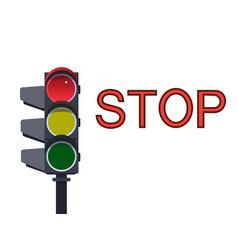 red traffic light vector image