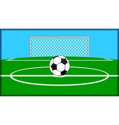 soccer theme vector image vector image