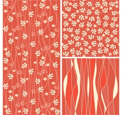 Foliage backgrounds vector image vector image