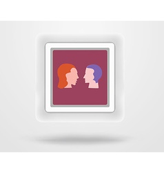 Icons with flat - people vector image