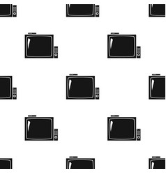 Pub television icon in black style isolated on vector