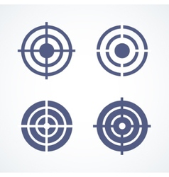 Set of simple abstract targets vector image vector image