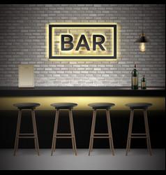 bar pub interior vector image vector image