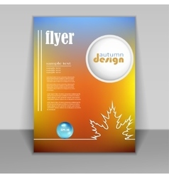 flyer brochure with autumn background vector image vector image
