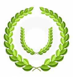 green laurel wreath vector image vector image