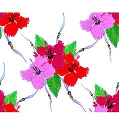Hibiscus pattern3 vector image vector image
